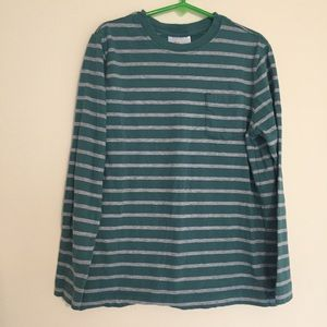 Hanna Andersson long sleeved tee grey and teal